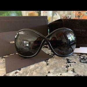 Tom Ford ladies Whitney sunglasses black